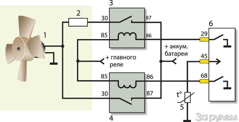 Схема подключения вентилятора радиатора ваз 21126